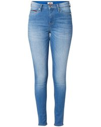 Tommy Hilfiger Nora - Skinny Jeans Met Halfhoge Taille - Blauw