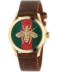 Gucci Horloge G-timeless Bee Ya126451 - Metallic