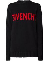 Givenchy Trui Met Ingebreid Logoprint - Zwart