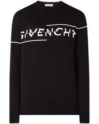 Givenchy Trui Met Ingebreid Logo - Zwart
