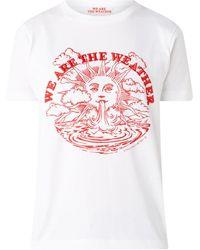Stella McCartney T-shirt Met Frontprint En Borduring - Wit