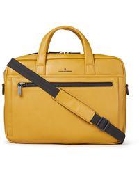 Castelijn & Beerens Charlie Businesstas Van Leer Met 15,6 Inch Laptopvak - Unisex - Geel