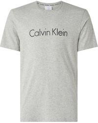 Calvin Klein Nu 15% Korting: Shirt Met Ronde Hals - Grijs