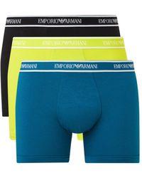 Emporio Armani Boxershorts Met Logoband In 3-pack - Meerkleurig