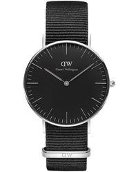 Daniel Wellington Horloge Black Cornwall Dw00100151 - Metallic