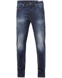 DIESEL Buster Tapered Fit Jeans 0853r - Blauw