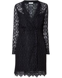 Sandro Mini-jurk Met Blazerlook Van Kant - Zwart