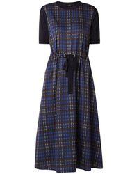 Ted Baker Cohli Midi-jurk Met Ruitdessin En Steekzakken - Blauw