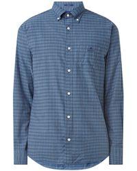 GANT D1 Regular Fit Overhemd Met Ruitdessin - Blauw