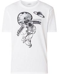 Valentino T-shirt Met Frontprint - Wit