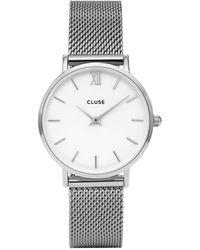Cluse Minuit Horloge Van Roestvrijstaal Cw0101203002 - Metallic