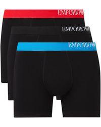 Emporio Armani Boxershorts Met Logoband In 3-pack - Zwart