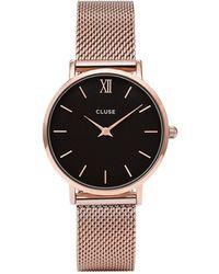 Cluse Minuit Horloge Van Roestvrijstaal Cw0101203003 - Meerkleurig