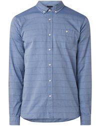 Scotch & Soda Regular Fit Button Down-overhemd Met Ingeweven Streepdessin - Blauw