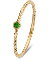 Diamond Point Geelgouden Ring 0-04 Ct Smaragd Joy - Metallic