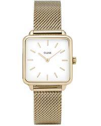 Cluse La Tétragone Horloge Cw0101207002 - Metallic