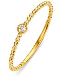 Diamond Point Geelgouden Ring 0-03 Ct Diamant Joy - Metallic
