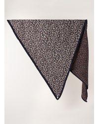 POM Amsterdam Leopard Festival Sjaal Met Dessin 150 X 100 Cm - Meerkleurig