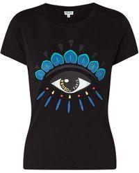 KENZO Icon Eye T-shirt Met Frontprint - Zwart