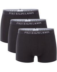 Ralph Lauren Boxershorts In Uni In 3-pack - Zwart