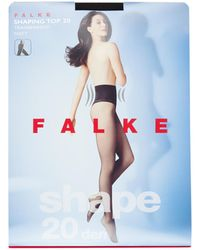 Falke Shape Top Panty Mat In 20 Denier Black - Zwart