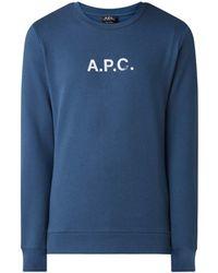 A.P.C. A-p-c- Sweater Met Logoprint - Blauw