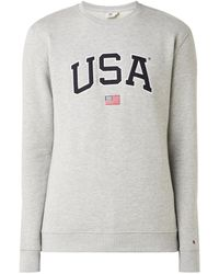 America Today Sion Usa Sweater Met Borduring - Grijs