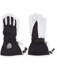 Hestra Heli Ski Handschoenen Met Geitenleren Details - Zwart