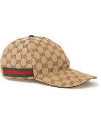 Gucci Originele GG Canvas Honkbalpet Met Web - Meerkleurig