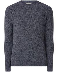 Mango Tempura Fijngebreide Pullover Met Gemêleerd Dessin - Blauw