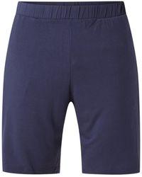Tommy Hilfiger Pyjamashorts Van Jersey Met Steekzakken - Blauw