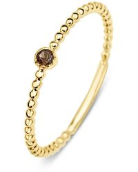 Diamond Point Geelgouden Ring 0-04 Ct Rookkwarts Joy - Metallic