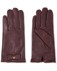 Ted Baker Bblake Handschoenen Van Leer - Paars