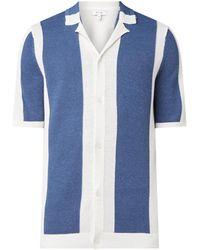 Reiss Kennick Fijngebreid Vest Met Streeppatroon - Blauw