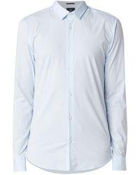 Scotch & Soda Classic Slim Fit Overhemd Met Stretch - Blauw