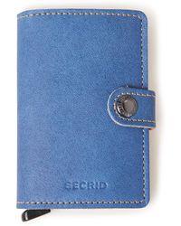 Secrid Miniwallet Pasjeshouder Van Leer - Blauw