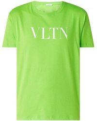 Valentino T-shirt Met Logoprint - Groen