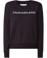 Calvin Klein Institutional Sweater Met Logoprint - Zwart