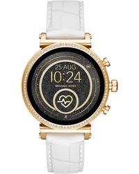 Michael Kors Sofie Heart Rate Smartwatch Mkt5067 - Metallic