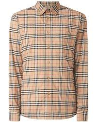 Burberry Simpson Regular Fit Overhemd Met Ruitdessin - Naturel