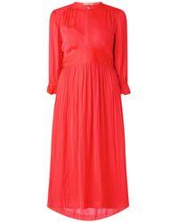 Scotch & Soda Midi-jurk Met Geplooide Details - Rood
