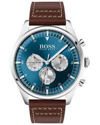BOSS Pioneer Horloge Hb1513709 - Bruin