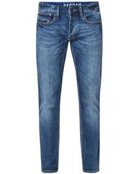 Denham Razor Slim Fit Jeans Met Stretch - Blauw