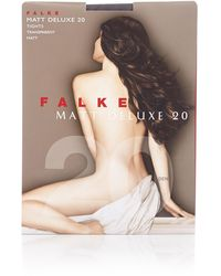 Falke Matt Deluxe Panty In 20 Denier Platinum - Grijs