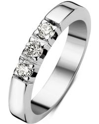 Diamond Point Witgouden Alliance Groeibriljant Ring, 0-30 Ct- 0-30 Ct Diamant Groeibriljant - Metallic