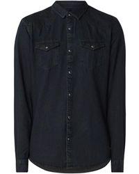Scotch & Soda Western Regular Fit Denim Overhemd Met Borstzakken - Zwart