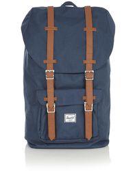 Herschel Supply Co. Little America Rugzak Van Denim Met 15 Inch Laptopvak - Blauw