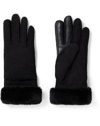 UGG Seamed Handschoenen Van Schapenleer - Zwart