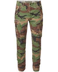 Ralph Lauren Slim Fit Cargobroek Met Camouflagedessin - Groen