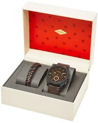 Fossil Horloge En Armband Giftset Fs5251set - Meerkleurig